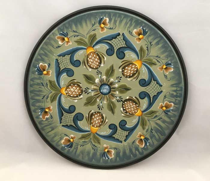 Hindeloopen Style Painted Tray