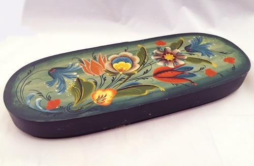 Rosemaling Long box - decorative art classes