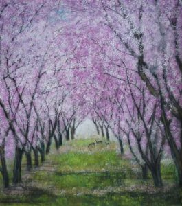 Chinese Brush Painting Classes - Purple Flowers