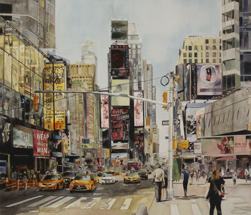 Good Morning NYC - Watercolor Painting Classes at Heartroom Gallery