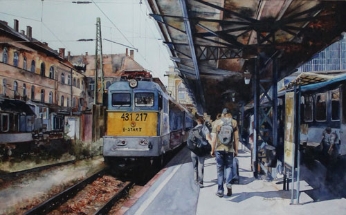 Last Station Budapest - watercolor painting classes at Heartroom Gallery