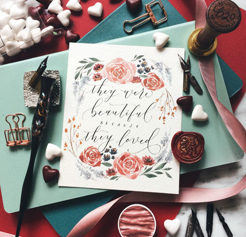Valentine's Day Themed Modern Calligraphy Workshop at Heartroom Gallery