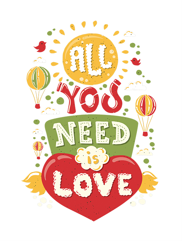 All you need is love - Thank you page