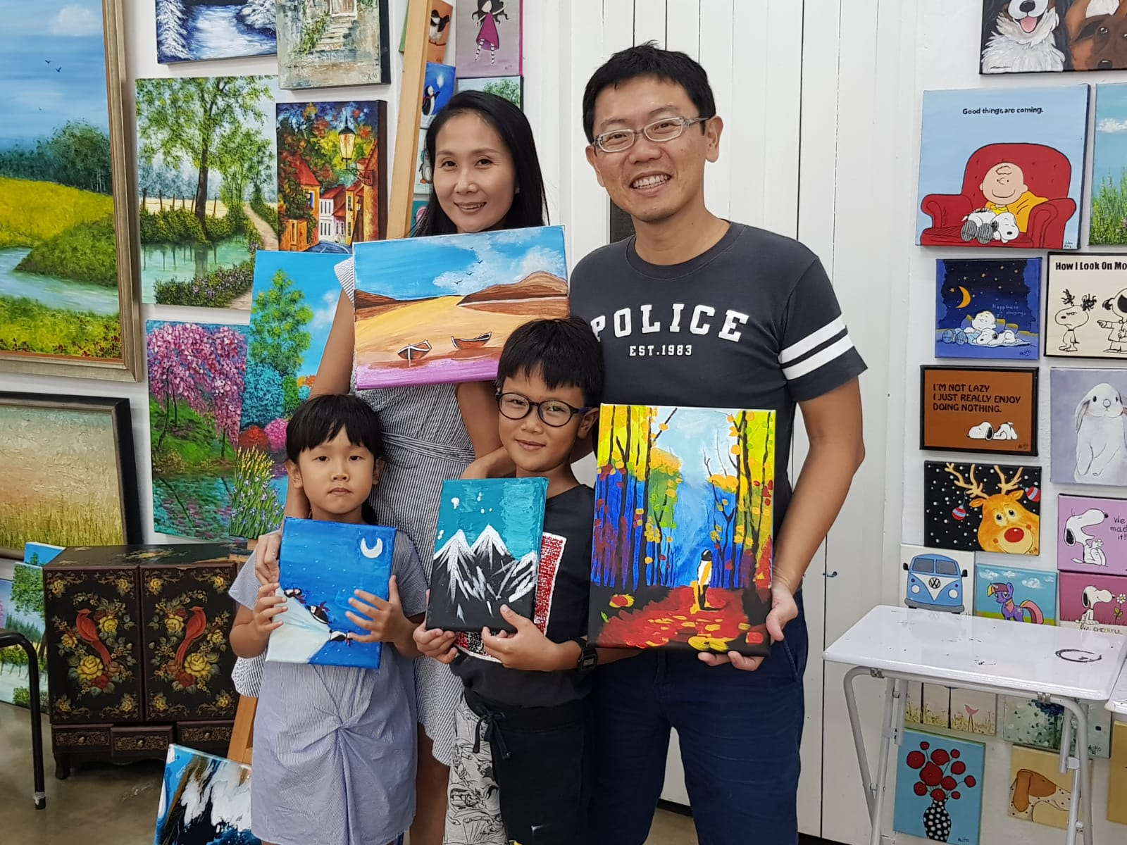 Art Jamming for Families Singapore at Heartroom Gallery