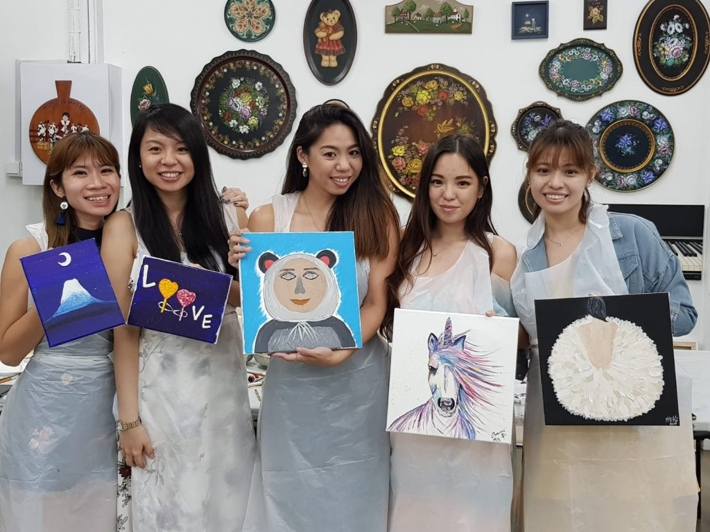 Art Jamming Hen's Night Singapore at Heartroom Gallery