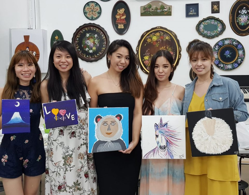 Art Jamming Hens Night Singapore at Heartroom Gallery